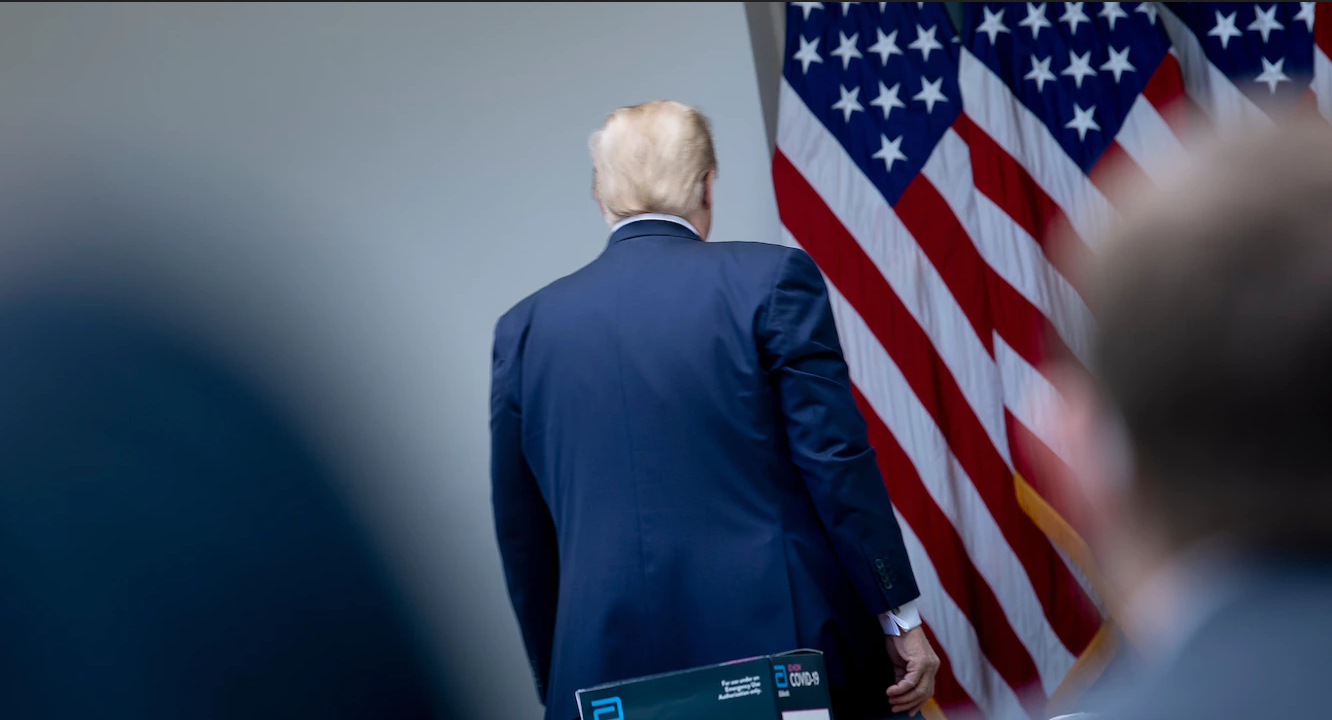 Trump walks out of news conference after reporter asks him about Veterans Choice lie he's told more than 150 times